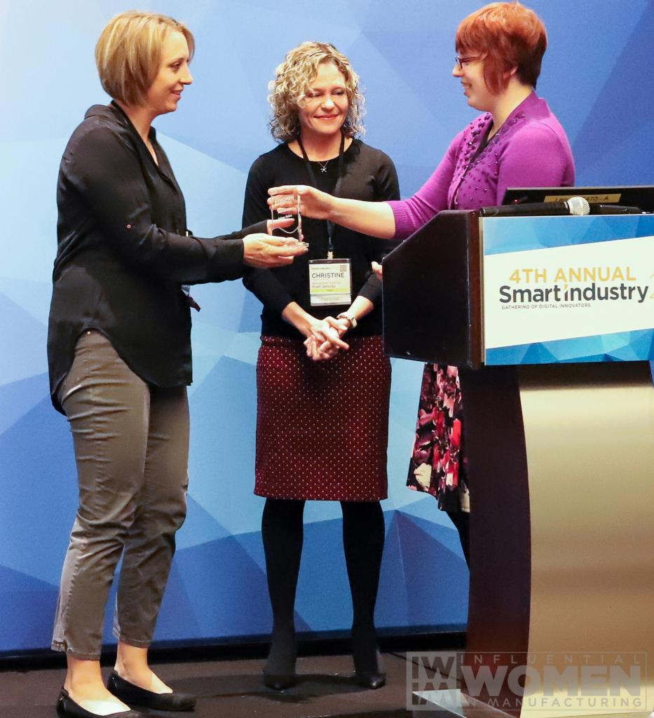 Jolene Baker accepts her award.