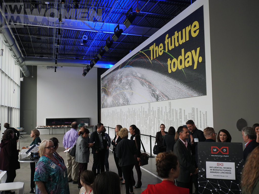 A view of MxD during the 2019 Influential Women in Manufacturing awards luncheon on at MxD on Manufacturing Day, Oct. 4.