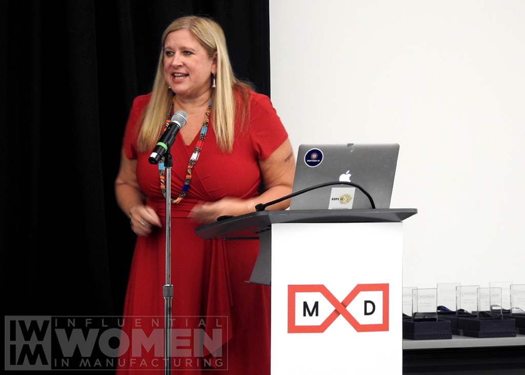 Chandra Brown, CEO, MxD, tells her story of life in manufacturing,