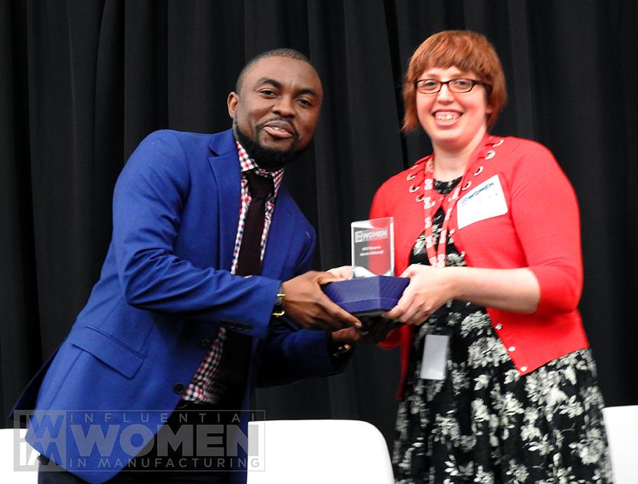 Oluwole Awoyemi, Husband of Adeola Olubamiji, accepts the award on her behalf.